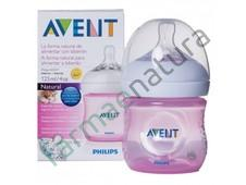 AVENT BIBERON NATURAL PP 125ML ROSA SINGLE PACK
